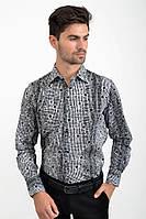 Рубашка 1025-3 цвет Бело-черный