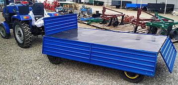 Прицеп двухосный 250х125х40см. для мини и мототракторов