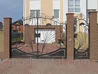 Ворота въездные распашные