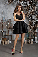 Элегантное женское платье на бретелях