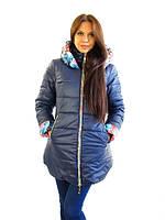 Удлиненная зимняя куртка с капюшоном от производителя