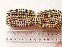 Шнур текстильный декоративный, бежевий.  Діаметр 4 мм.  Моток 9.5-10 метрів. Туреччина.