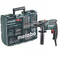 Дрель ударная Metabo SBE 650 + набор принадлежностей