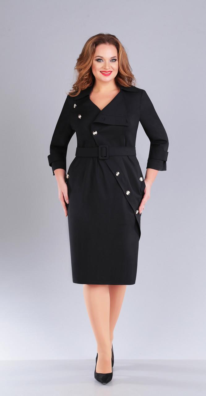 Платье Foxy Fox-151 белорусский трикотаж, черный, 52