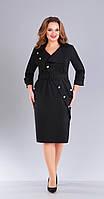 Платье Foxy Fox-151 белорусский трикотаж, черный, 52, фото 1