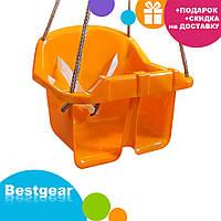 Детская качеля Малыш Технок 3015 Желтая | качелька для ребенка | пластиковая подвесная качеля