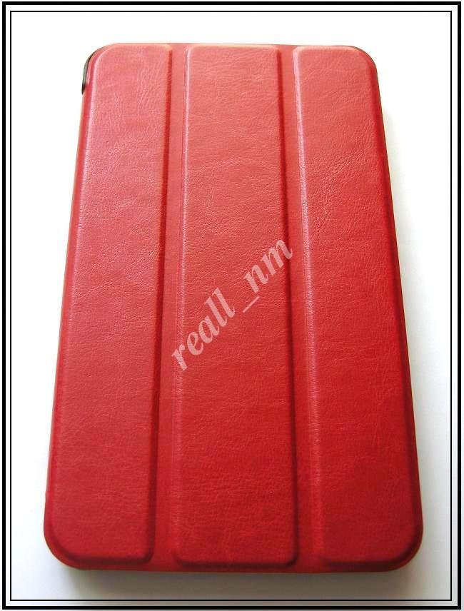 Красный кожаный Tri-fold case чехол-книжка для планшета Asus Fonepad 7 Fe375CXG K019