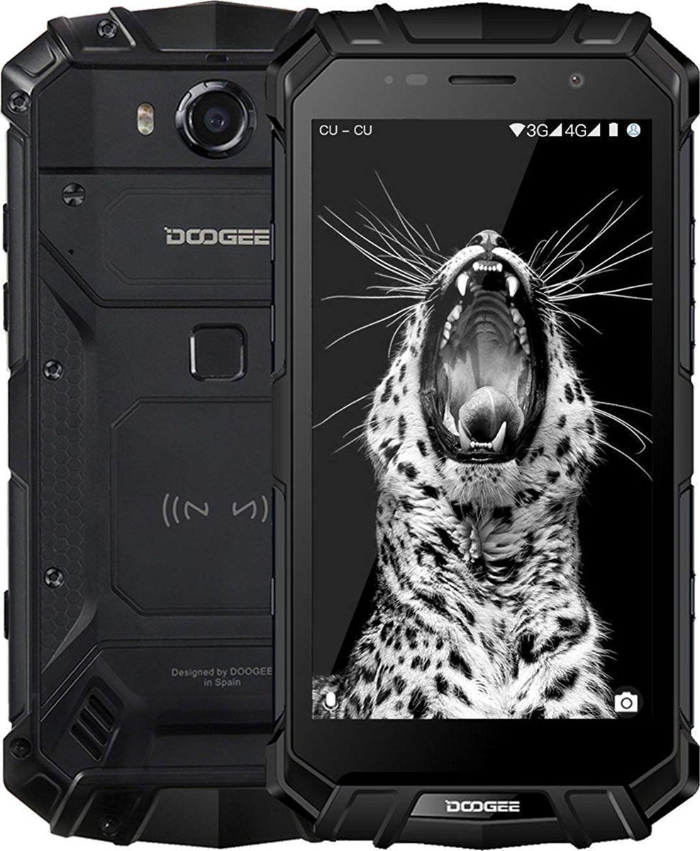 Защищенный мобильный телефон DOOGEE S60 black  6+64GB (5580mAh)