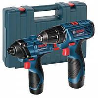 Набор аккумуляторных инструментов Bosch шуруповерт GSR 120-LI + гайковерт GDR 120-LI