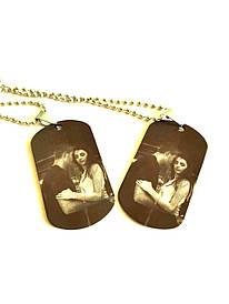 Армейские жетоны с нанесением фото