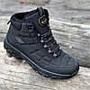 Кроссовки мужские зимние черные теплые (код 9916) - чоловічі кросівки зимові чорні теплі