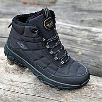 Кроссовки мужские зимние черные теплые (код 9916) - чоловічі кросівки зимові чорні теплі, фото 1