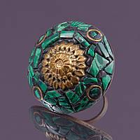 Кольцо sherl малахит Зеленый (кл-млх-033)