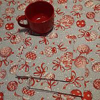 Ткань для скатертей и полотенец ш.150 Новогодние шары