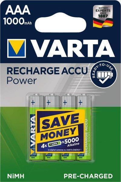 Батарейки Varta AAA Ready-to-use 1000 mAh, 4 шт