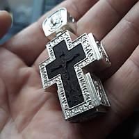 Крестик в окладе с иконами