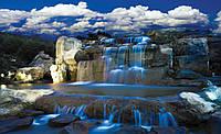Фотообои флизелиновые 3D природа 312х219 см Синий водопад (1965.20014)