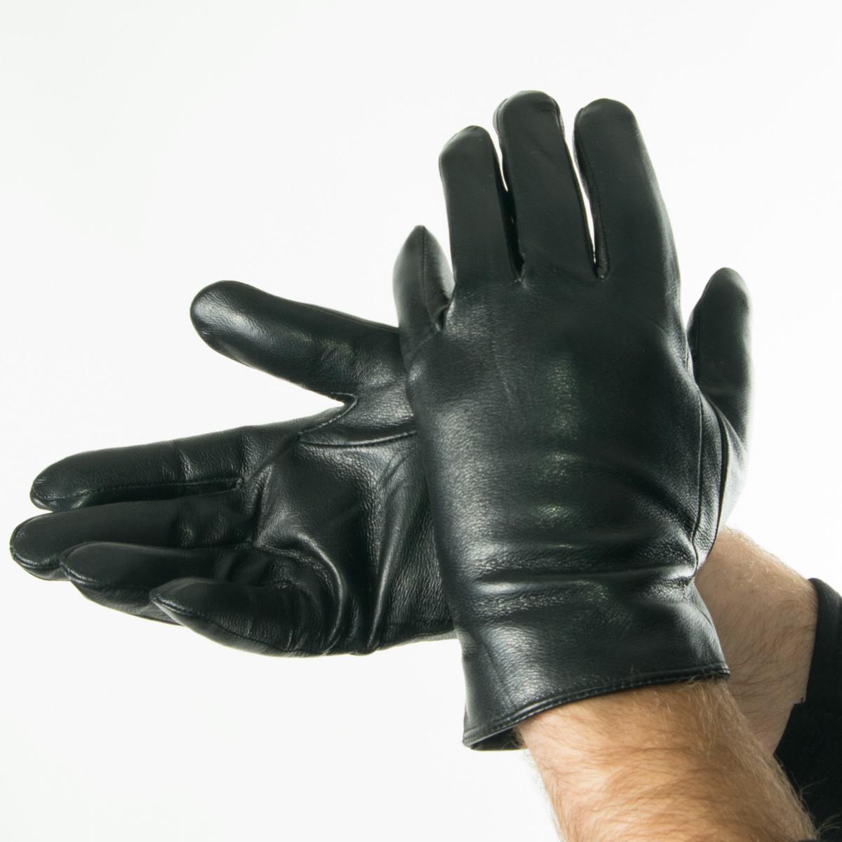 Мужские зимние перчатки из натуральной кожи  - 18M6-2