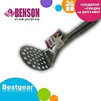 Картофелемялка из нержавеющей стали Benson BN-256 | толкушка для пюре | кухонные принадлежности из нержавейки