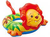 Детский надувной круг 58221-1 (Лев) Зверюшки, фото 5