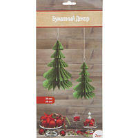 Аксессуары для новогоднего праздника подвески, елки зеленые