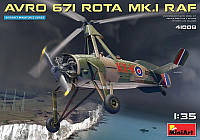 1:35 Сборная модель автожира Avro 671 Rota Mk.I, MiniArt 41008;[UA]:1:35 Сборная модель автожира Avro 671 Rota