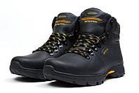 Мужские  зимние кожаные ботинки  Е-series Tracking Black Night (реплика), фото 1