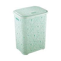 Корзина для белья Ажур мятная Elif plastik 322-3LF