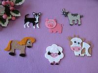 Домашние животные из фетра (набор) - 36 грн