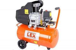 Компресор LEX 50 л 2-х циліндровий 3.3 кВт 430 л/хв ГАРАНТІЯ Польща!