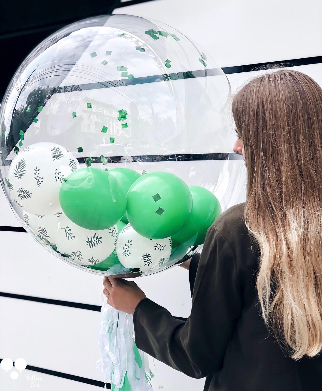 Пластикова куля баблс 65 див. з наповненням