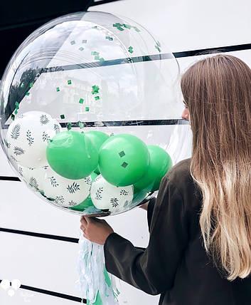 Пластикова куля баблс 65 див. з наповненням, фото 2