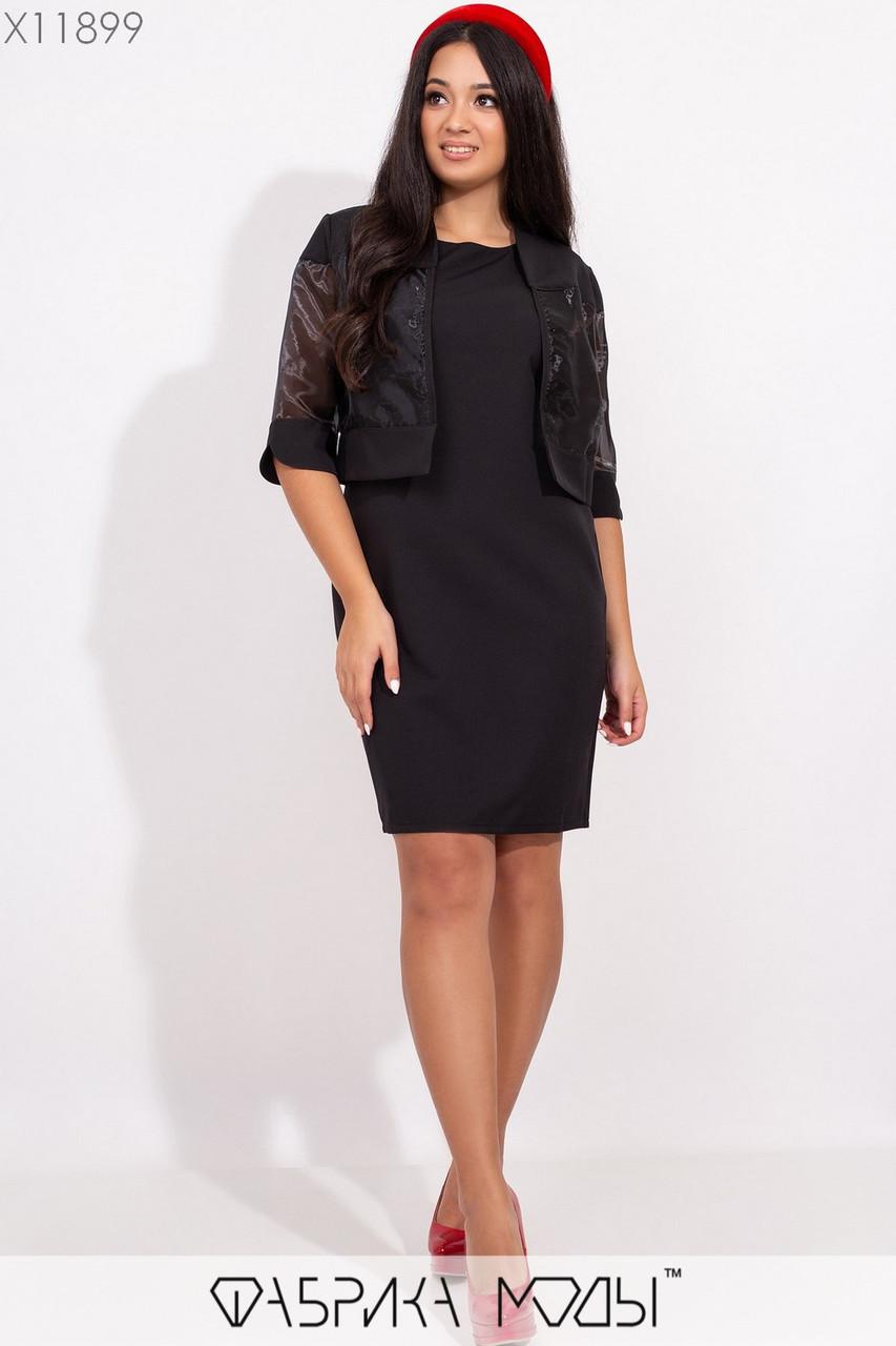 Платье в больших размерах с жакетом из органзы vN5279
