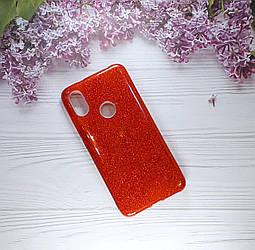 Чехол накладка Glitter на Xiaomi Redmi S2, Red