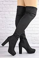 Женские ботфорты Gabby черные 1365