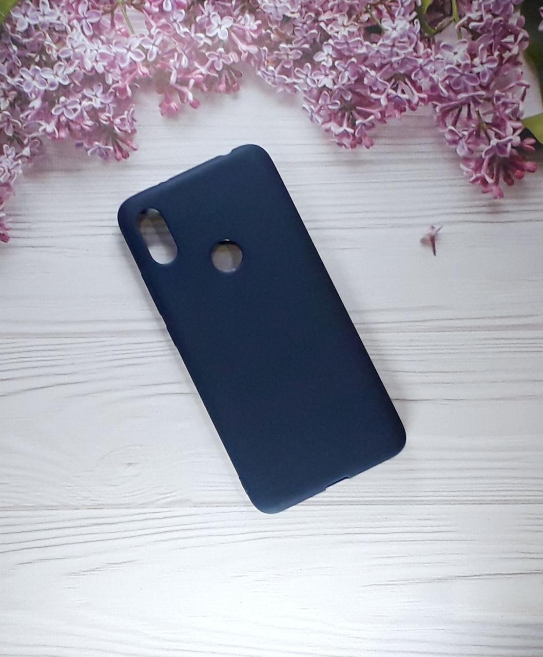Чехол накладка Silicone Case на Xiaomi Redmi S2, Dark Blue