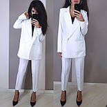 Женский брючный костюм с пиджаком оверсайз на две пуговицы vN5334, фото 2