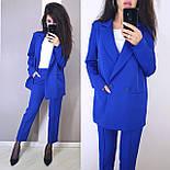 Женский брючный костюм с пиджаком оверсайз на две пуговицы vN5334, фото 4
