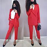 Женский брючный костюм с пиджаком оверсайз на две пуговицы vN5334, фото 5
