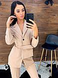 Женский брючный костюм с зауженными брюками и удлиненным пиджаком vN5336, фото 4