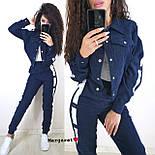 Вельветовий жіночий брючний костюм з жакетом і лампасами vN5338, фото 4
