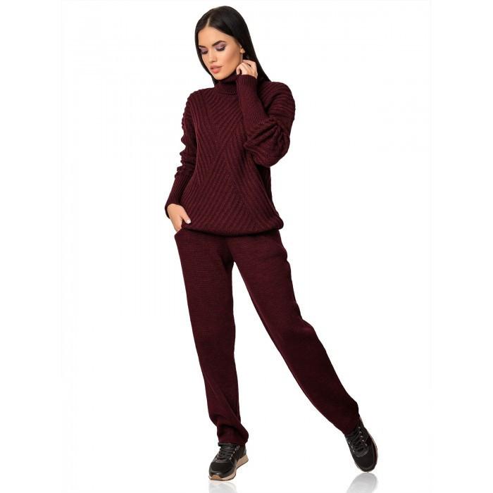 Теплый вязаный костюм 44-48 размер