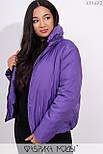 Короткая демисезонная куртка в больших размерах на молнии с воротником стойкой vN5360, фото 3