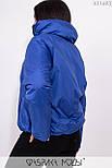 Короткая демисезонная куртка в больших размерах на молнии с воротником стойкой vN5360, фото 6