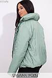 Короткая демисезонная куртка в больших размерах на молнии с воротником стойкой vN5360, фото 7