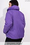 Короткая демисезонная куртка в больших размерах на молнии с воротником стойкой vN5360, фото 8