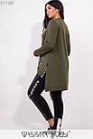 Женский брючный костюм в больших размерах лосины и туника vN5366, фото 4