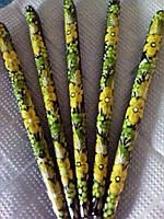 Украинский сувенир - ручки, Петриковская роспись/Ukrainian souvenir - pens, Petrikov painting