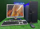 """Комплект Lenovo M55, 2 ядра, 4 ГБ ОЗУ, 320 Гб HDD + монитор 19"""" Dell, Полностью настроен!, фото 3"""