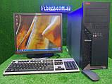 "Комплект Lenovo M55, 2 ядра, 4 ГБ ОЗУ, 320 Гб HDD + монитор 19"" Lenovo , Полностью настроен!, фото 3"